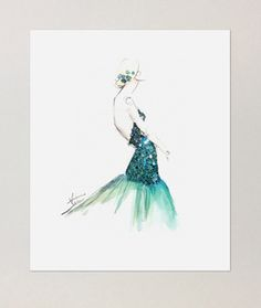 Image of Emerald Gown | Poster