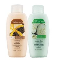 NATURALS Mini Body Lotion.  Get ready for your summer vacations with these travel-sized lotions!  On sale 10% off!  Reg. $0.99.  Comes in Vanilla and Cucumber Melon.