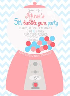 first birthday for girl or boy invitation.  5x7 set of 25