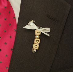 Boutonnieres for all wedding helpers Creative non-floral boutonniere ideas. (image via Memoirs) Wedding Groom, Diy Wedding, Dream Wedding, Wedding Ideas, Wedding Crafts, Wedding Decor, Corsage Wedding, Wedding Bouquets, Wedding Buttonholes