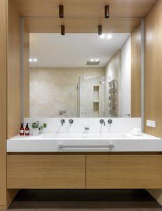 bathroom Minimalist Design, Bungalow, Mirror, Bathroom, House, Furniture, Home Decor, Washroom, Minimal Design