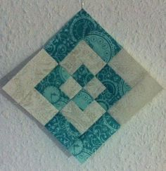 """6"""" Log Cabin Variation with measurements and instructions.  From heikescharmann.wordpress.com blog Password:Quilt."""