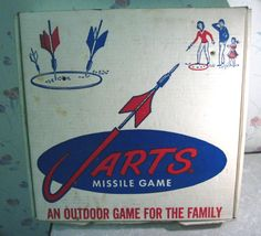 We actually played this.  Nothing like throwing dangerous pointy items with all the neighborhood kids.