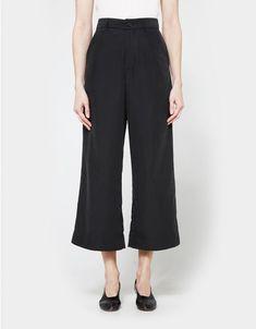 Wide Leg Trouser in Black