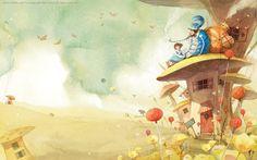"""Очень понравились иллюстрации KIM MINJI (Южная Корея). """"Маленький принц"""", """"Алиса в Стране Чудес"""", """"Питер Пэн"""" и многое другое. А вдруг вы еще не…"""