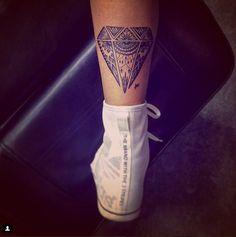 unique diamond tattoo