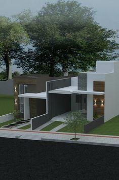 O charme não está nas medidas da casa, mas na elegância ao escolher formas e materiais. Casas pequenas com fachadas sofisticadas.