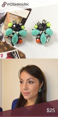 Neon Statement Earrings! Lovely earrings! hwl boutique Jewelry Earrings