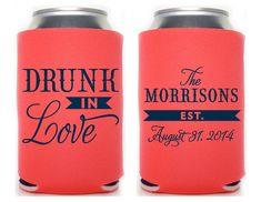 Custom Wedding Koozie Drunk In Love By SplendidSips On Etsy 180 For 150