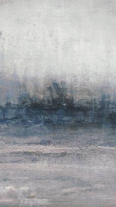 Abstract Ocean Art Indigo Blue Gray 24 x 30 Texture Canvas