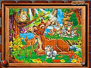 Sort the tiles and complete the puzzles piece of these lovely animals of the forest.