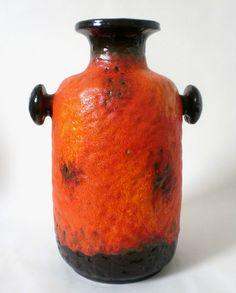 70s ceramic Carstens 40 cm Atelier Keramik Vase west german céramique annees 70