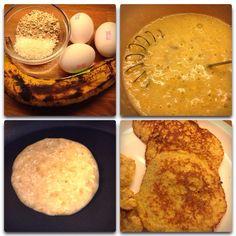 En superenkel og supergod lunsj til barn: lapper med banan! Den opprinnelige oppskriften er slik: 1 banan moses og vispes sammen med 2 egg. Stek. Enklere kan det vel ikke bli? Jeg foretrekker å til... Baby Food Recipes, Baking, Ethnic Recipes, Dessert, Mini, Recipes For Baby Food, Bakken, Deserts, Postres