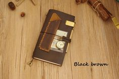 Vintage Midori Style Genuine Leather Travel Notebook