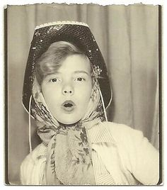 ** Vintage Photo Booth Picture **   Teenager cowgirl looking to act a few years older than she was!
