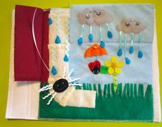 Imagine Our Life :: Itsy Bitsy Spider Quiet Book Page - would be cute with primary songs