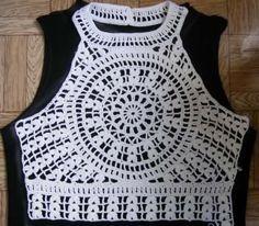 Fabulous Crochet a Little Black Crochet Dress Ideas. Georgeous Crochet a Little Black Crochet Dress Ideas. T-shirt Au Crochet, Crochet Shirt, Crochet Cross, Crochet Stitches, Crochet Summer Tops, Crochet Bikini Top, Knitting Patterns, Crochet Patterns, Knitting Ideas