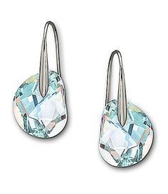"Swarovski ""Galet"" Crystal Earrings"