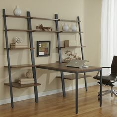 Parsons with leaning shelves