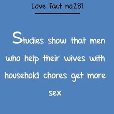 FYI MEN!!!  Go help your lady with those ‪#‎chores‬!   ‪#‎happy‬ ‪#‎healthy‬ ‪#‎love‬ ‪#‎mysexulator‬