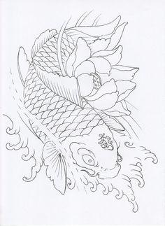 Japanese Tiger Tattoo, Japanese Tattoos For Men, Japanese Dragon Tattoos, Japanese Tattoo Designs, Japanese Sleeve Tattoos, Dragon Koi Tattoo Design, Koi Dragon Tattoo, Koi Fish Tattoo, Koi Tattoo Sleeve