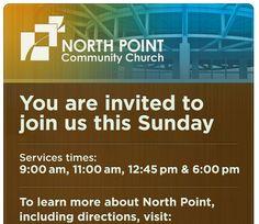 My church - North Point Community Church - the Alpharetta Campus