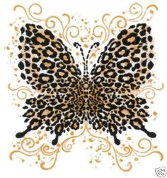 Leopard Butterfly Tattoo