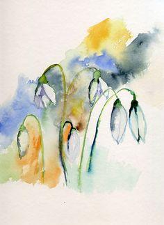Caro's Malerei: Schneeglöckchen