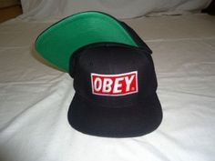 Obey Caps / Hats Snapback (Black and Red) by Obey, http://www.amazon.com/dp/B00CMB5QIQ/ref=cm_sw_r_pi_dp_sfOWrb0MRND8G