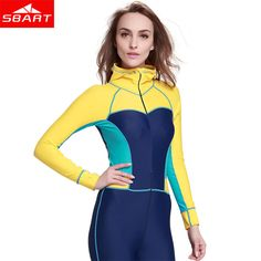 0aec8d37e3 Aliexpress.com   Buy SBART Lycra Women Long Sleeve Diving Wetsuit One Piece  Spearfishing Surfing Wetsuits Hooded Scuba Diving Equipment Wet Suit N from  ...