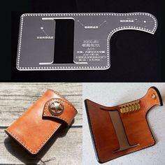 Acrylic long wallet passpot holder Template Leather Craft Pattern Stencil BBX-08