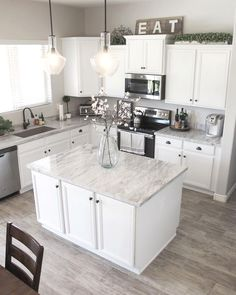 10 Elegant White Kitchen Design Ideas For More Comfortable Kitchen Ideas Kitchen Remodel Ideas Comfortable Design Elegant Ideas Kitchen White Kitchen Redo, Home Decor Kitchen, Kitchen Interior, New Kitchen, Kitchen Remodel, Kitchen Backsplash, Kitchen Dining, Decorating Kitchen, Dining Room