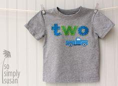Little blue truck, boy's first birthday shirt, boy's number shirt, boy's one shirt, boy's two tee, truck birthday party, 2nd birthday Tshirt on Etsy, $27.00