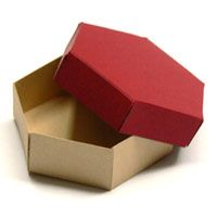 Sechseckige Schachtel