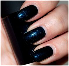 Mac biker blue nail polish #nailpolish #maccosmetics