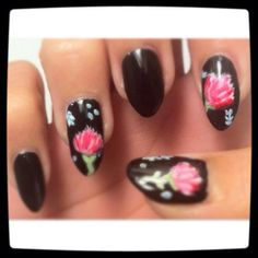 floral. by maricelllaaa - Nail Art Gallery nailartgallery.nailsmag.com by Nails Magazine www.nailsmag.com #nailart