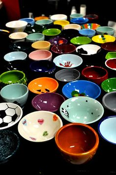 So many bowls....So many choices....... Empty Bowls August 12, 2012