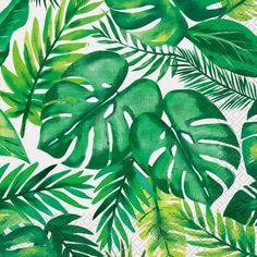 Tropical Party Napkins/ Fancy Palm Leaf Napkins/  Tropical Party Decor / Palm Napkins