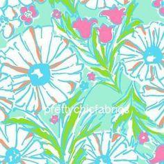 "Lilly Pulitzer Splish Splash Cotton Poplin Fabric BTY x 57""   eBay"