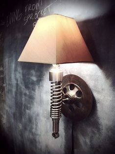 Motorcycle Spring Wall Light