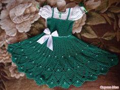 Patron vestido tejido a crochet para niña03