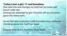 Reminds me of the bible story where there was a rich man that gave some of his money and a poor girl who gave all her money, faith in humanity restored! Sweet Stories, Cute Stories, Beautiful Stories, Love Gives Me Hope, Human Kindness, Touching Stories, Faith In Humanity Restored, Cute Quotes, Good People