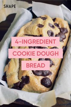You Can Recreate This 4-Ingredient Cookie Dough Bread Without Flour, Yeast, Or Sugar