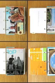 Mantén las cosas al estilo clásico con un álbum de recortes o una carpeta de viajes. | 20 maneras asombrosas de exhibir los recuerdos de tus viajes
