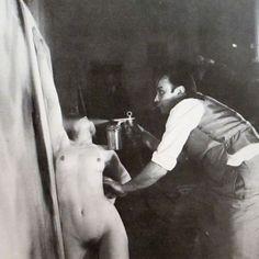 Yves Klein, Making Fire Anthropometries  at the Centre d'Essais du Gaz de Paris, France, 1961