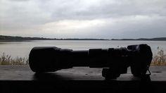 Ein Abend bei den Kranichen am Rederangsee | meine Kamera als Skizzenblock – beim Warten auf die Kraniche am Rederang See (c) FRank Koebsch.