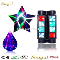 79.92$  Watch now - Niugul Mini LED Spider light/DMX512 Stage effect Light/Sound Activated dj disco lighting/8PCS leds beam wash lights party lamp  #magazine
