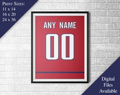 Washington Capitals Poster - Personalized Jersey Print - Any Name - Any Number - Realistic Material & Stitching - PRINTABLE WALL ART by SportsImages on Etsy https://www.etsy.com/listing/508037231/washington-capitals-poster-personalized