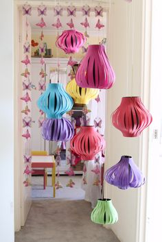 DIY paper lanterns. Could be adjusted to fit ANY party theme! How cute would these be for any celebration?