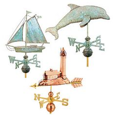 Copper weathervanes from New Concept Louvers #nautical